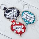 Personalised Speach Bubble Fabric Keyring