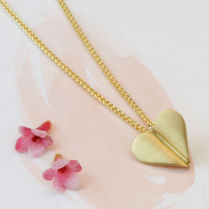 'Love Grows' 9ct Gold Heart Necklace - necklaces & pendants