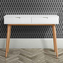 White Oak Mid Century Console Table