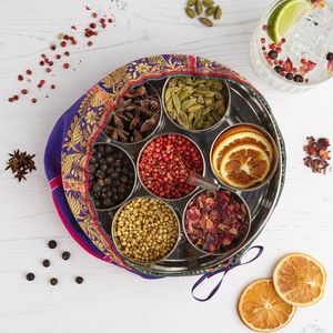 Gin Botanicals Spice Tin With Sari Wrap