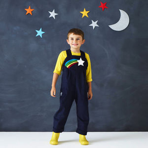 Childs Star Man Dungaree Costume - premium toys & games