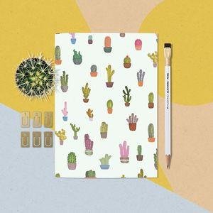 A5 Cactus Pattern Notebook