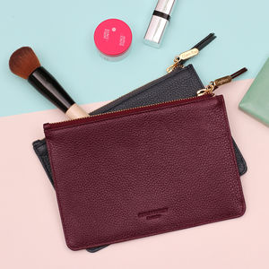 Personalised Leather Make Up Bag - top makeup bags