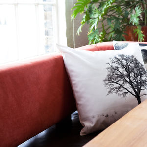 Modern Tree Winter Festive Christmas Cushion Cover - christmas home