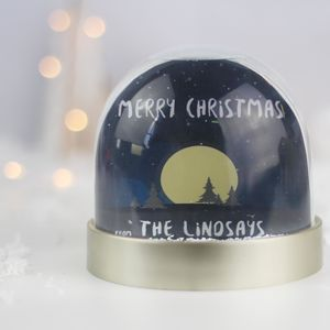 Personalised Snow Globe, Starry Night - snow globes & ornaments