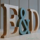 Wooden Letters Traditional Oak