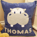 Personalised Henry Hippo Cushion