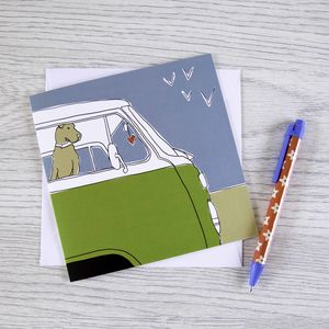 Campervan Greetings Card 'Home Is Where The Heart Is'