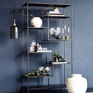 Black Iron Display Unit