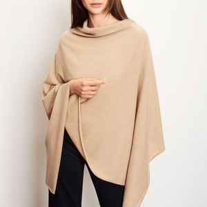 Cashmere Blend Poncho - gifts for her