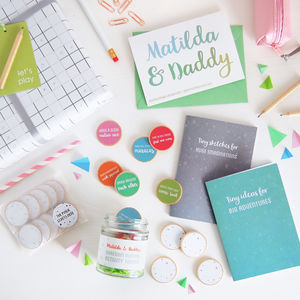 Personalised Daddy's Boredom Busting Ideas Gift Set - home accessories