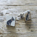Daddy And Me French Bulldog Cufflinks And Tag Set