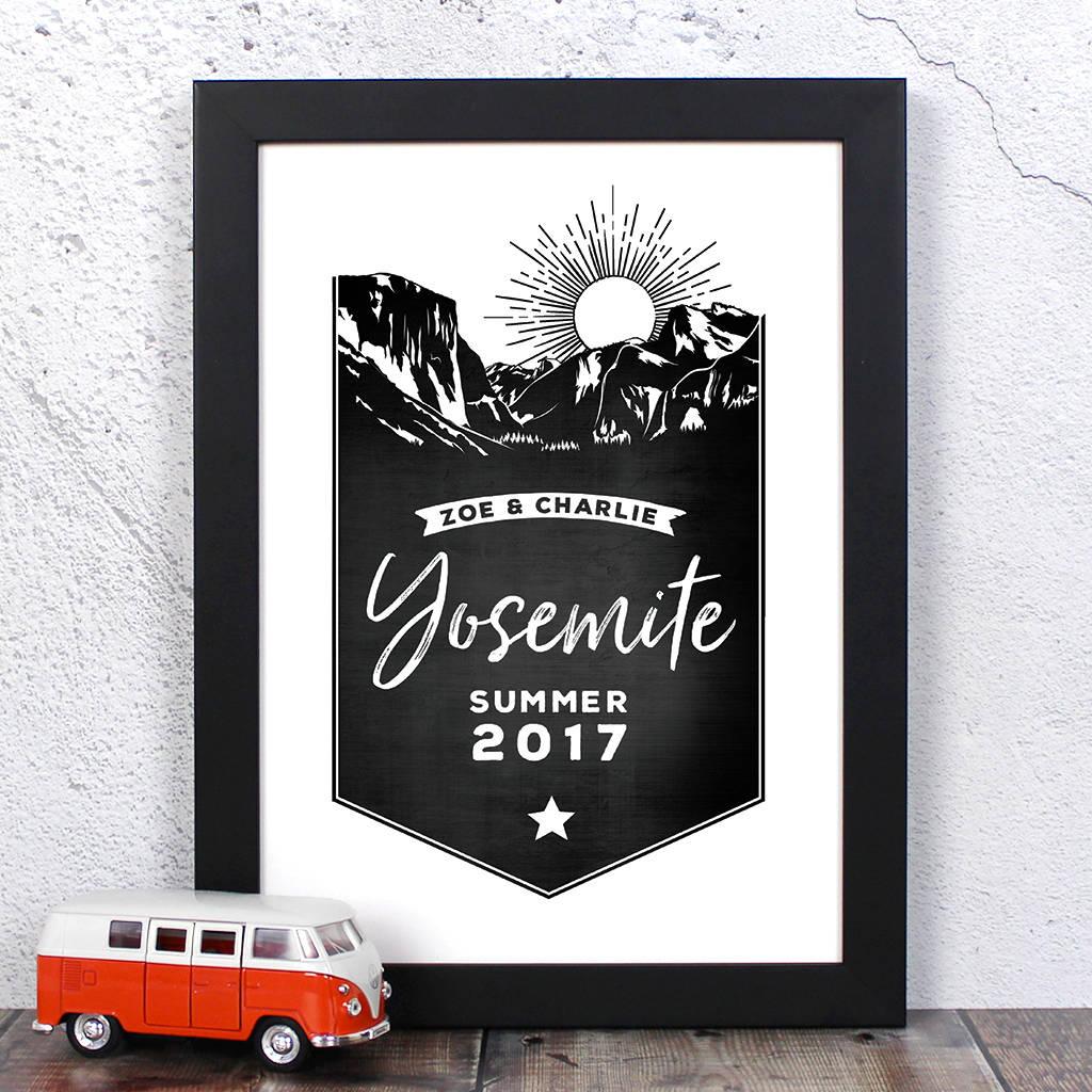 Personalised Yosemite Memento Print