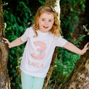 Personalised Floral Birthday Age T Shirt