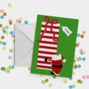 Father Christmas Big Gift A5 Card