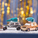 Festive Car And Tree Christmas Ornament