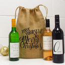 Have Yourself A Merry Christmas Wine Bottle Gift Bag