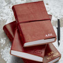 Personalised Distressed Leather Journal
