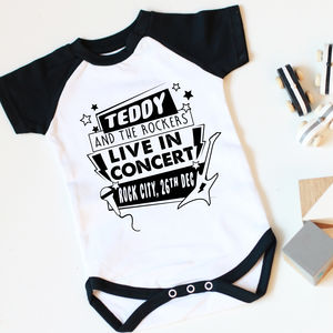 Personalised Concert Personalised Baby Vest - view all new