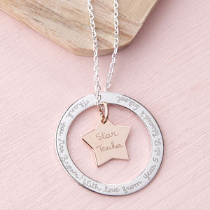 Personalised Eternity Star Necklace - jewellery gifts for mothers