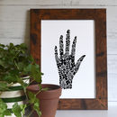 Botanical Folk Hand Art Print