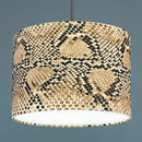 Snakeskin Print Shade Gold Silver Or Copper Lining