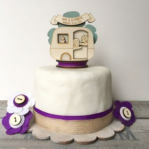Personalised Caravan Wedding Cake Topper - cake toppers & decorations