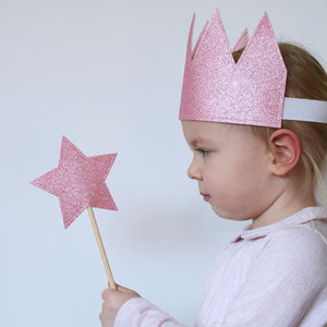Glitter Star Wand Dress Up Pink