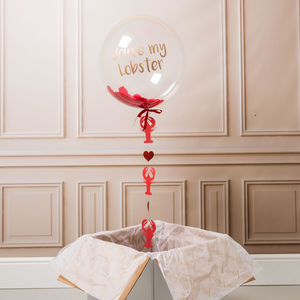 You're My Lobster Personalised Valentine's Balloon