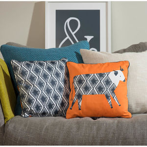 Curious Cows Cushion - decorative accessories