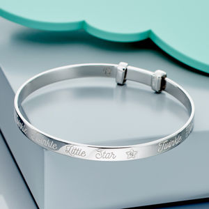 'Twinkle' Diamond Christening Bangle