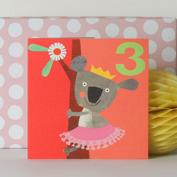 Happy Birthday Koala Three Card