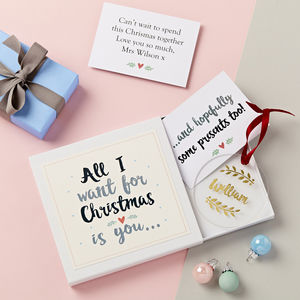 All I Want For Christmas Decoration Gift Set - cards & wrap