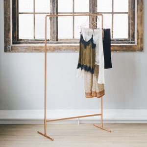 Tall, Light And Airy Copper Rail - stands, rails & hanging space