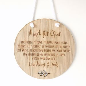 'A Wish For…' Boy's Christening Gift - christening gifts