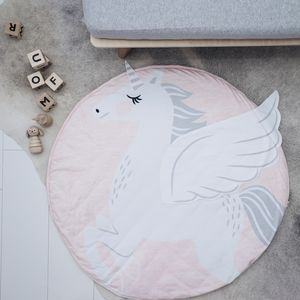 Baby And Children's Pink Unicorn Playmat