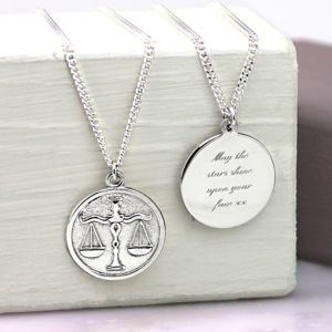 Solid Silver Zodiac Pendant - necklaces