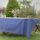 Blue Striped Cotton Tablecloth