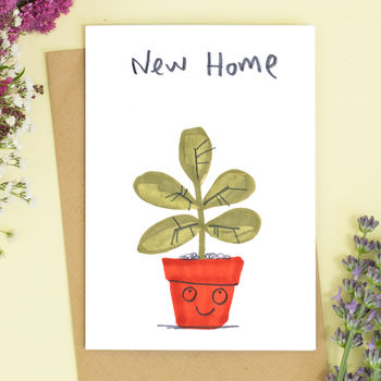 New Home Pot Plant Card