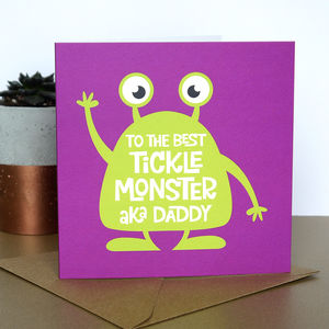 Tickle Monster Daddy Birthday Card - father's day cards
