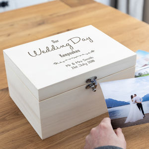 Personalised Our Wedding Day Keepsakes Box - keepsake boxes