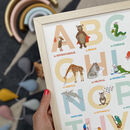 Illustrated A To Z Alphabet Of Emotions Print
