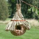 Personalised Natural Straw Hanging Bird House