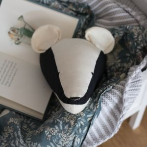 Little Badger Animal Head Wall Hanging - hanging decorations