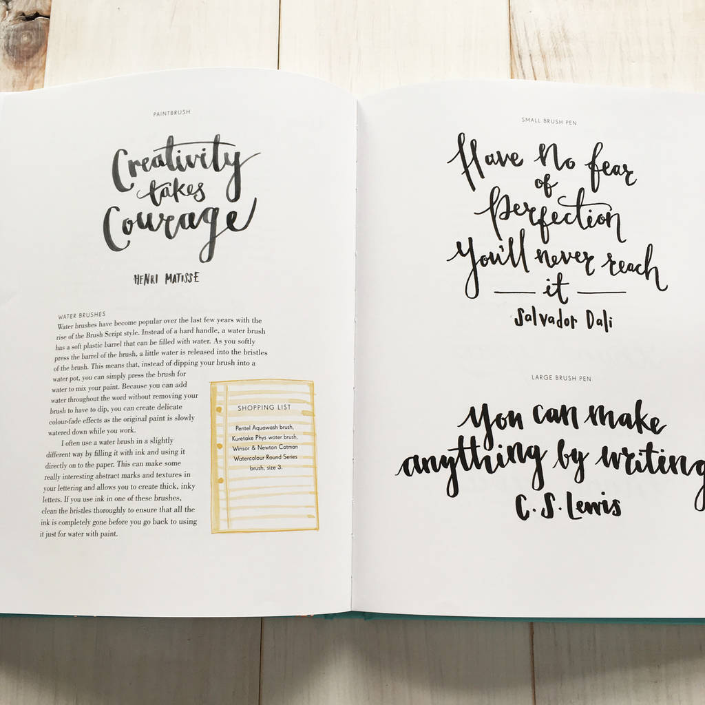 Modern lettering a guide to calligraphy by betty