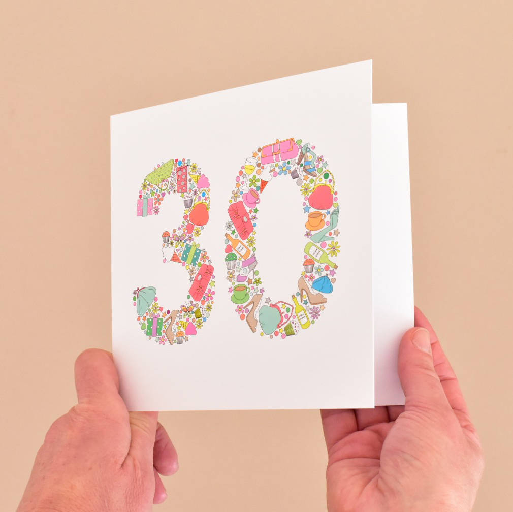 30th Birthday Card For Women Sister Mum Auntie Friends