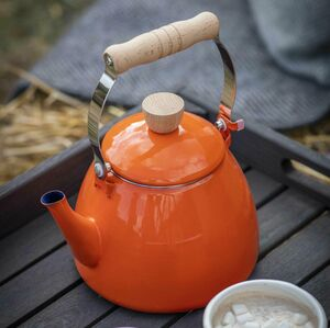 Burnt Orange Enamel Kettle