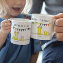 Personalised Welly Boot Grandpa And Me Mug Set