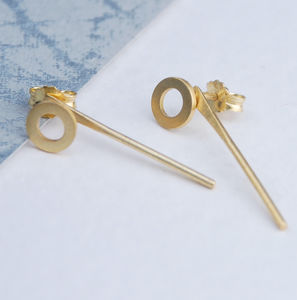 Circle Drop Two Way Earrings - jewellery sale