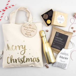 Merry Christmas Personalised Gift Bag